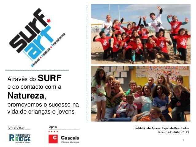 Através do SURF e do contacto com a Natureza, promovemos o sucesso na vida de crianças e jovens 1 ApoioUm projeto Relatóri...