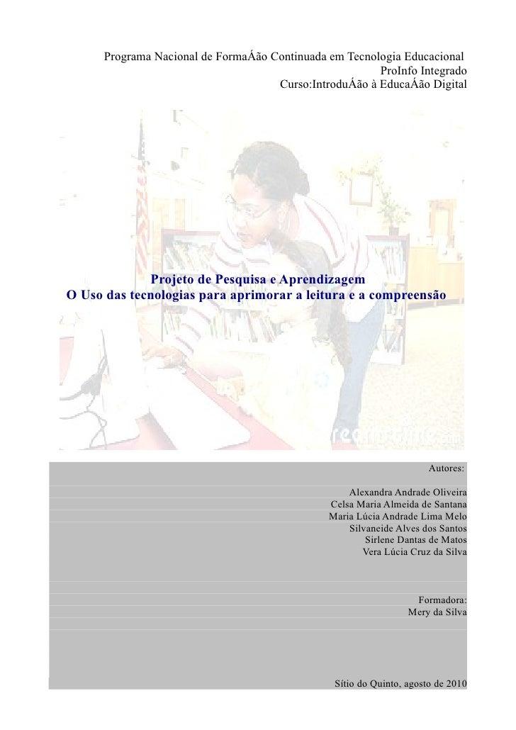 Programa Nacional de Formação Continuada em Tecnologia Educacional                                                        ...