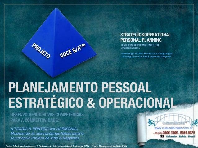 PLANEJAMENTO PESSOAL ESTRATÉGICO & OPERACIONAL DESENVOLVENDO NOVAS COMPETÊNCIAS PARA A COMPETITIVIDADE: A TEORIA & PRÁTICA...