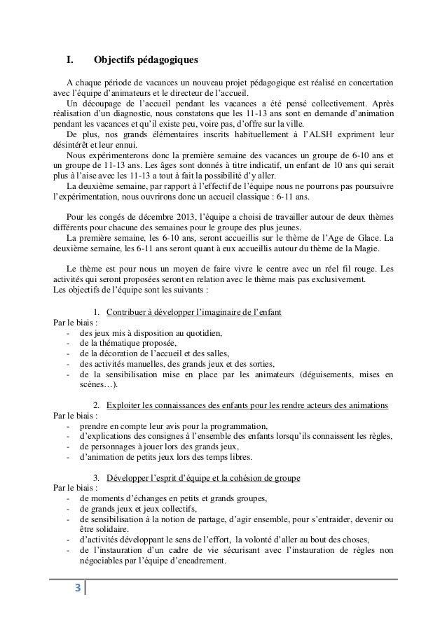 Projet p dagogique 6 10 ans no l 2013 for Projet d animation cuisine