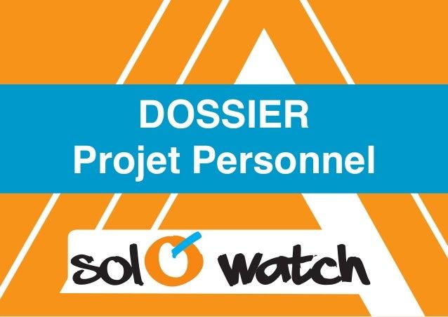 1 DOSSIER Projet Personnel