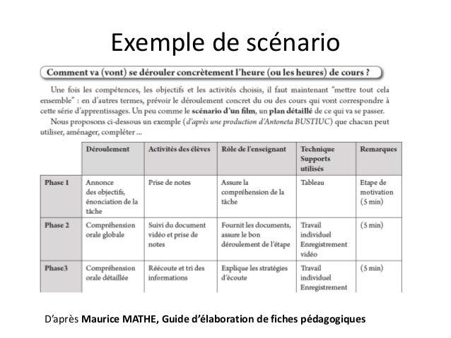 Projet Quebec France Scenario Pedagogique