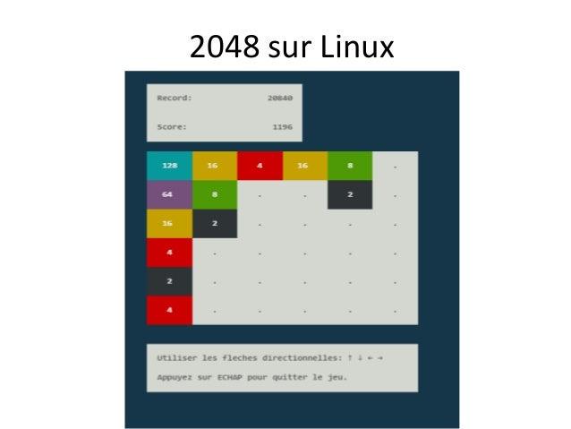2048 sur Linux
