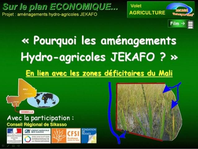 Sécurité alimentaire et réconciliation au Mali