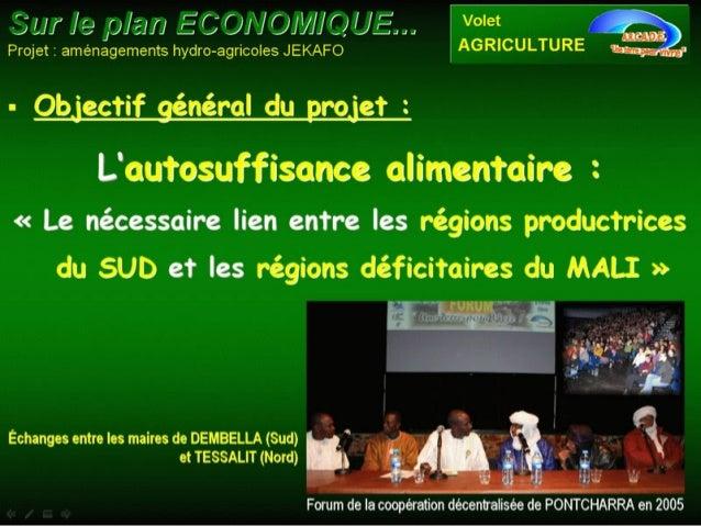 Sécurité alimentaire et réconciliation au Mali Slide 2