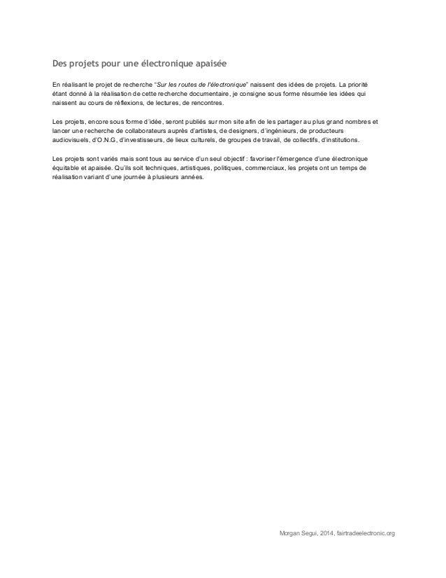 """Des projets pour une électronique apaisée  Enréalisantleprojetderecherche""""Surlesroutesdel'électronique""""naissen..."""
