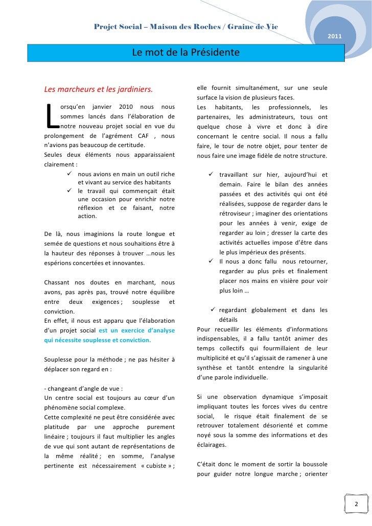 Projet social 2011-2015 Slide 3