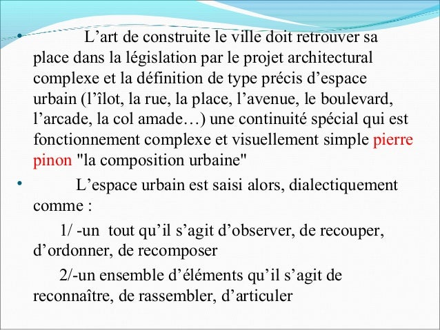 projet urbain 05 ForProjet Architectural Definition