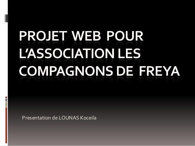Presentation de LOUNAS Koceila