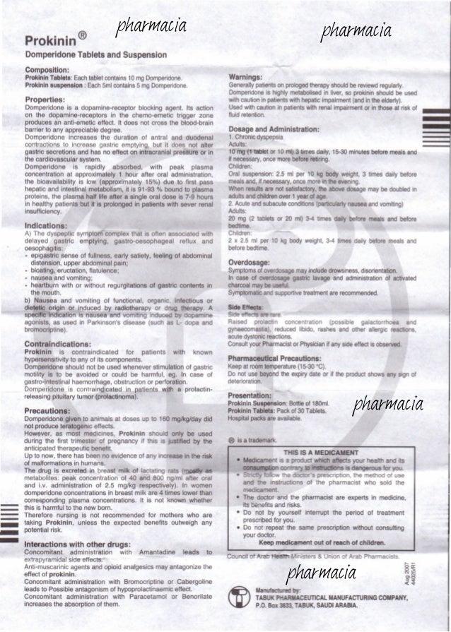 Prokinin Tablet Susp Patient Information Leaflet