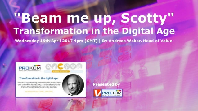 """Beam me up, Scotty"" 