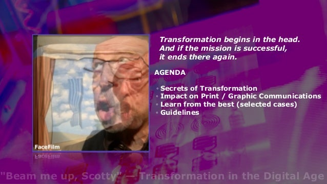 """""""Beam me up, Scotty"""" — Transformation in the Digital Age Slide 2"""