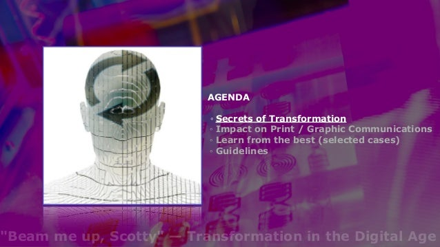 """""""Beam me up, Scotty"""" — Transformation in the Digital Age Slide 3"""