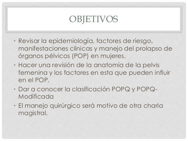 Prolapso de Órganos Pélvicos Slide 2