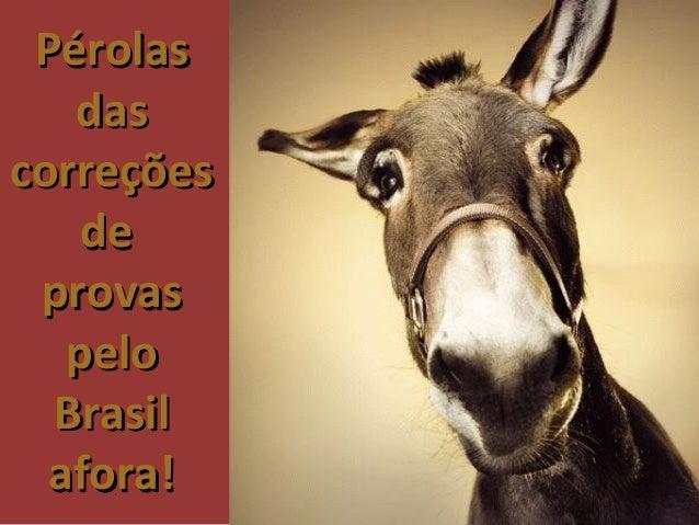 Pérolas das correções de  provas pelo Brasil afora!