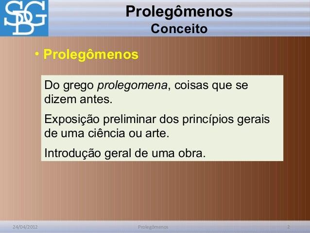 Prolegomenos Slide 2