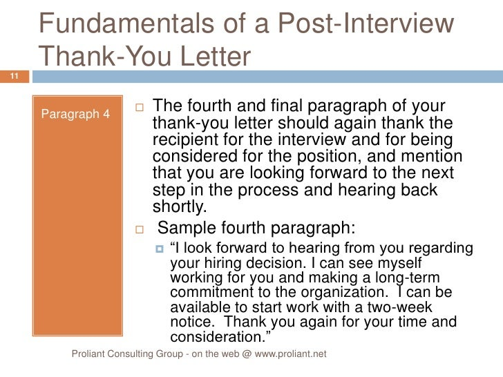 Post Interview Thank You Letter Sample Post Phone Interview Thank