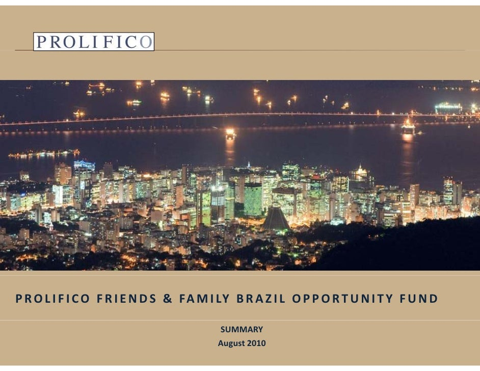 Prolifico Friends And Family Summary