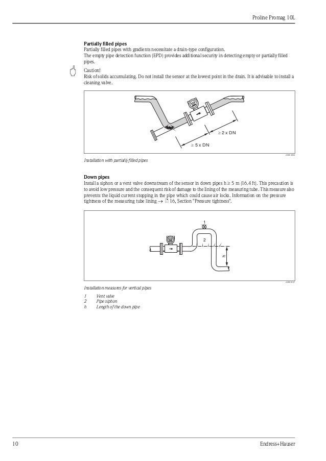 Endress Hauser Promag 10l Manual