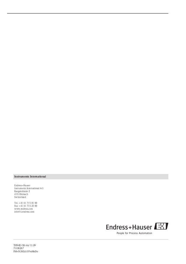 Proline Promag 10P-Electromagnetic Flowmeter