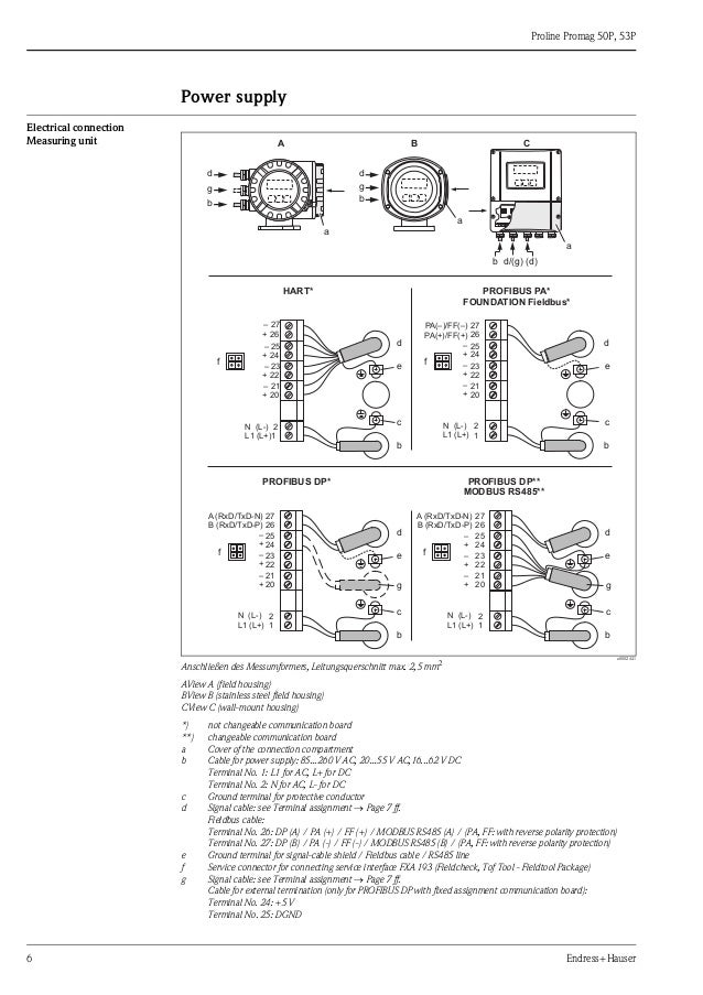 Proline Promag 50P, 53P-Electromagnetic Flowmeter