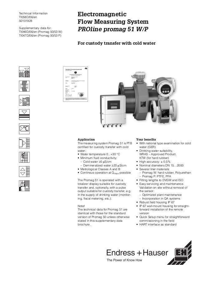 Proline PROline Promag 51W/P -Electromagnetic Flowmeter