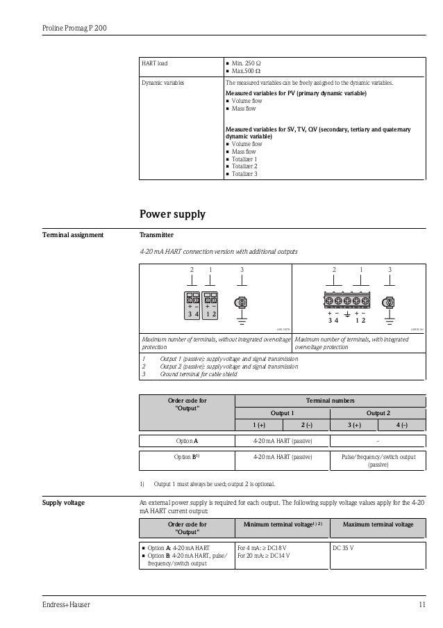 Endress Hauser Promag 300 Manual