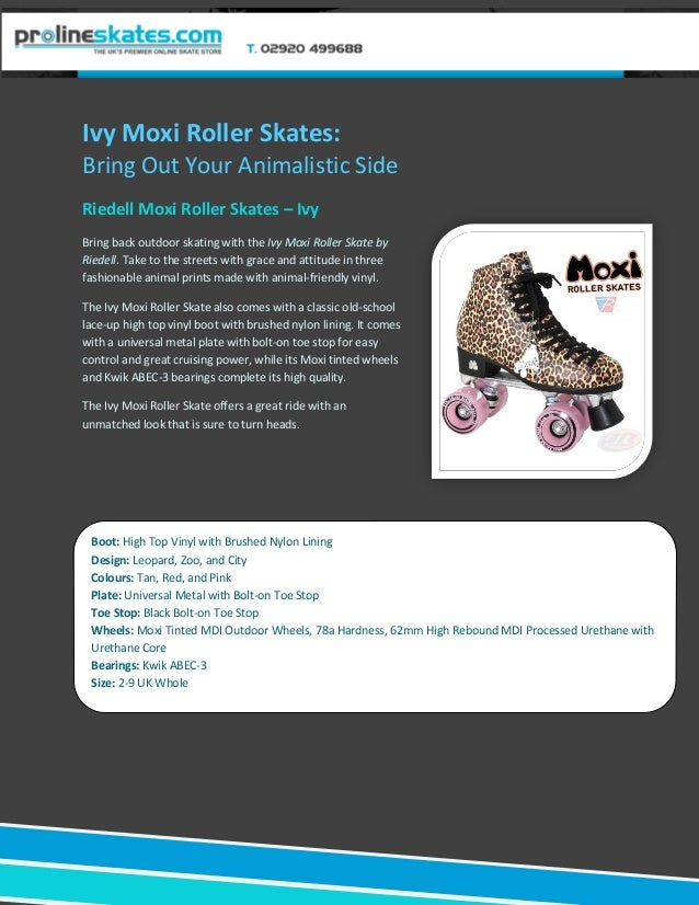 Ivy Moxi Roller Skates:Bring Out Your Animalistic SideRiedell Moxi Roller Skates – IvyBring back outdoor skating with the ...