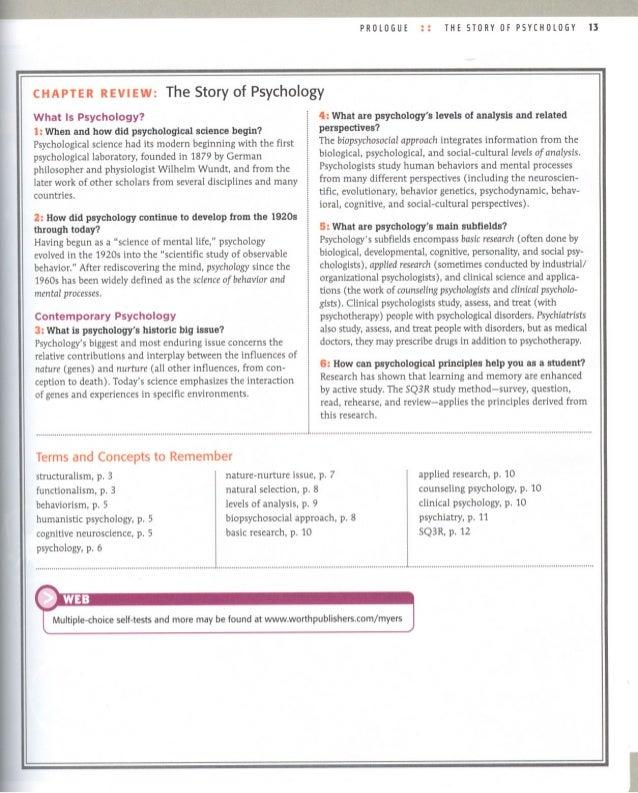 Prologue & Chapter 1 AP Psychology