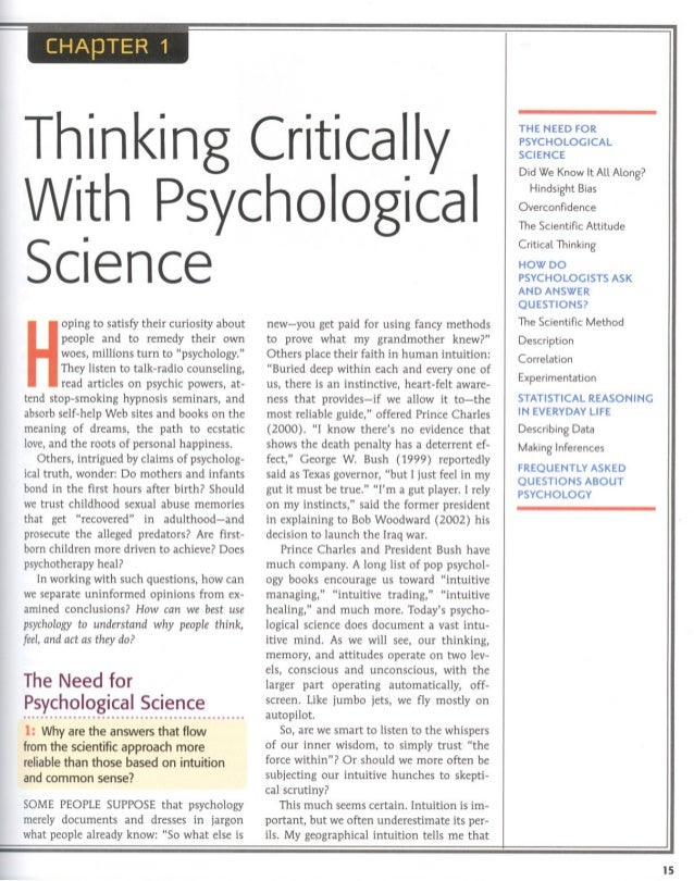 thinking critically with psychological science answers Unit 2 – research methods: thinking critically with psychological science ap psych assignment: write and define/explain terms and identify write and answer questions.