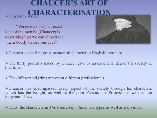 chaucers characterization in canterbury tales