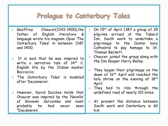 canterbury tales line by line explanation