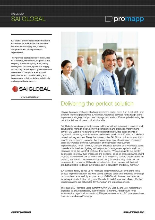 Promapp Case Study SAI Global