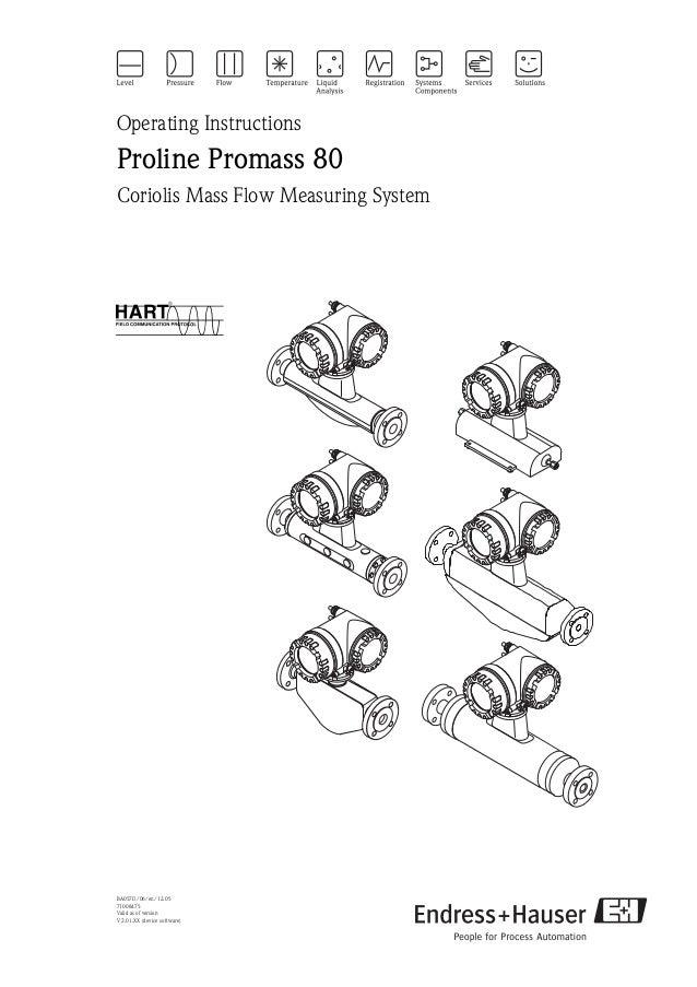 endress hauser promass 80 operating manual