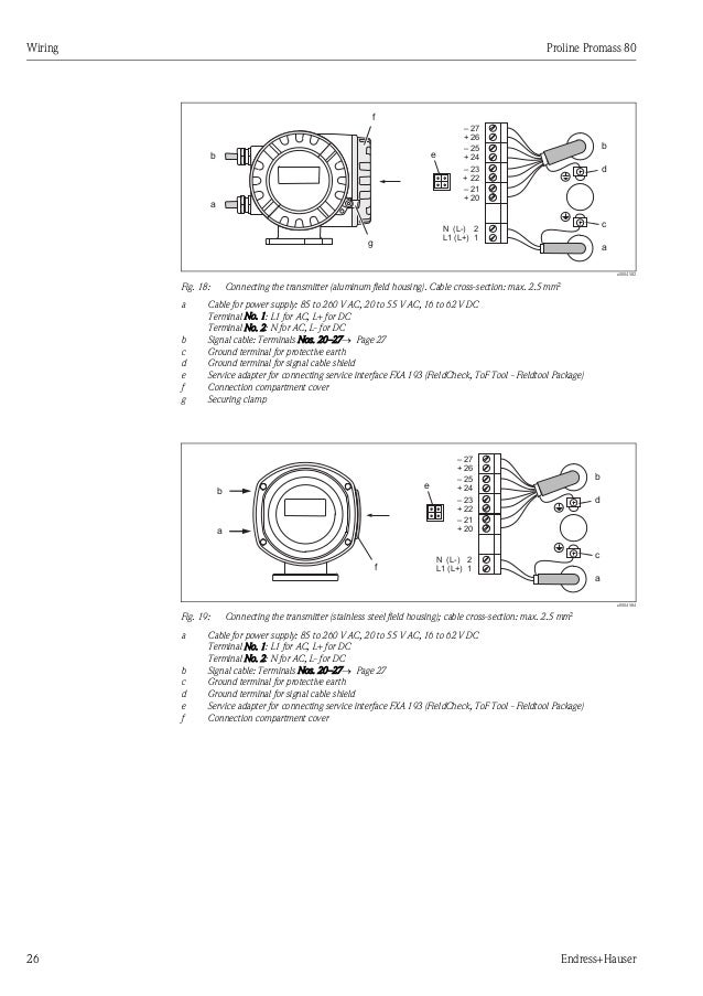 Promass Flow Meter on Ac Adapter Wiring Diagram