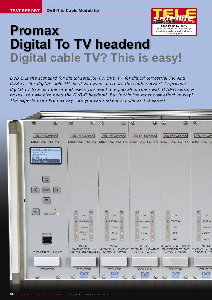 TEST REPORT                   DVB-T to Cable Modulator                                                                    ...
