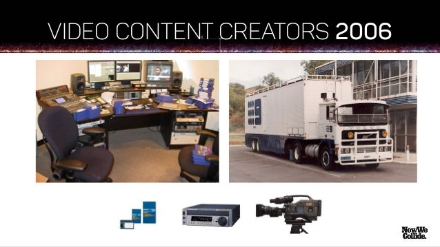 IN JUST 10 YEARS 2016 Now anyone can easily access the tools to become a content creator and build an audience…