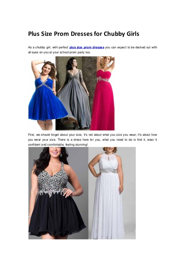 Prom Dresses For Chubby Girls