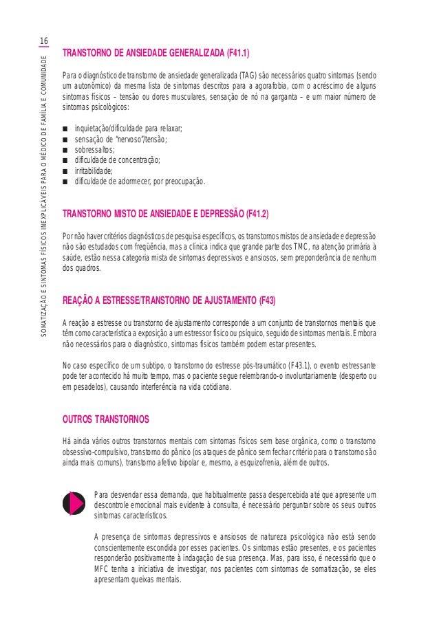 16SOMATIZAÇÃOESINTOMASFÍSICOSINEXPLICÁVEISPARAOMÉDICODEFAMÍLIAECOMUNIDADE TRANSTORNO DE ANSIEDADE GENERALIZADA (F41.1) Par...
