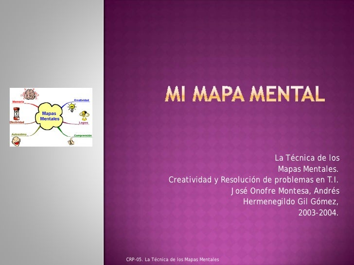 La Técnica de los                                               Mapas Mentales.                  Creatividad y Resolución ...