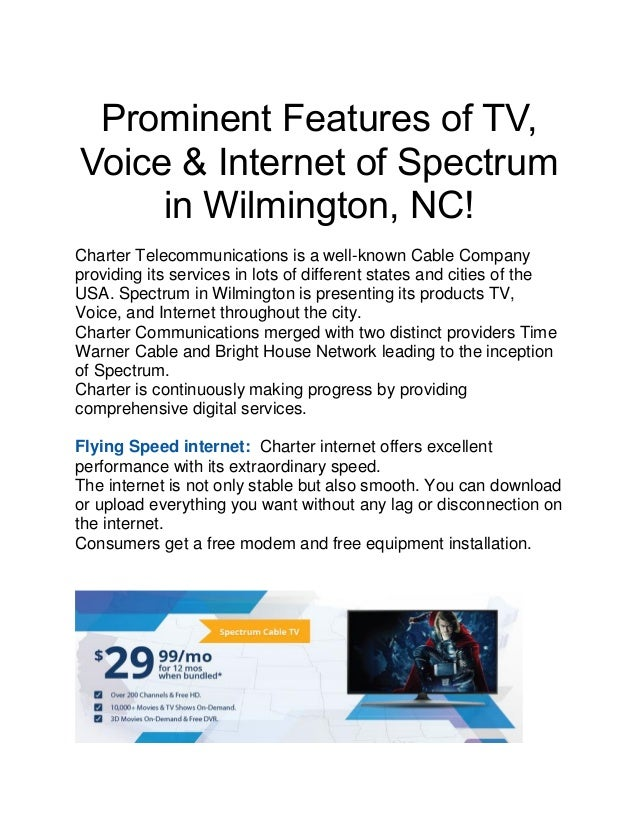 Prominent features of tv, voice &