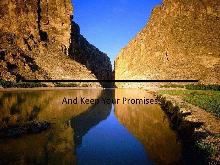وَ أَوْفُوا بِالْعَهْدِ<br />And Keep Your Promises<br />