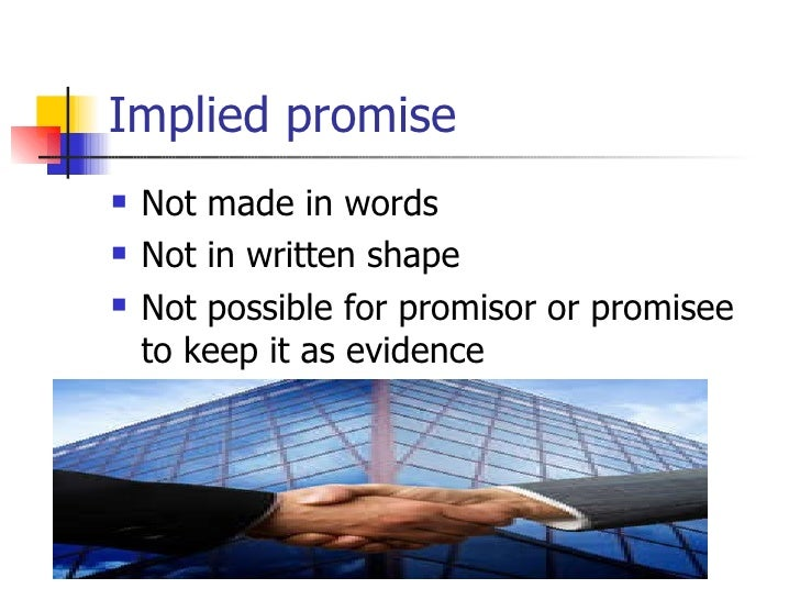 implied promise