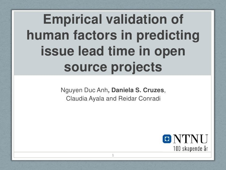 Empirical validation of human factors in predicting issue lead time in open source projects<br />Nguyen DucAnh, Daniela S....