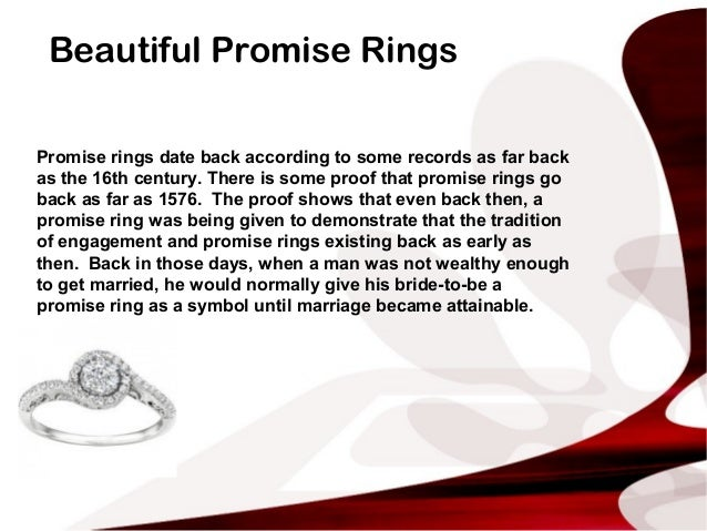 What is the meaning behind a promise ring