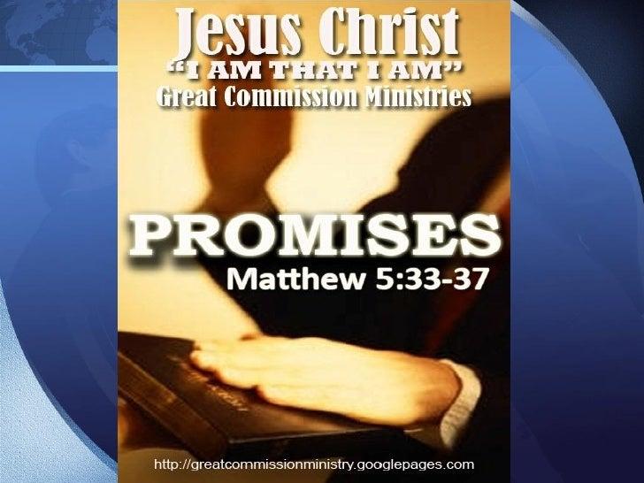 Our Main Bible Verse     Matthew 5:33-37  33 Bukod sa rito'y inyong narinig na sinabi sa    mga tao sa una, Huwag kang man...