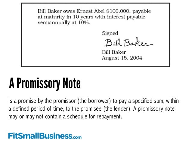 How To Use A Promissory Note To Fund Your Business