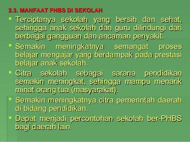 Phbs Di Tatanan Sekolah