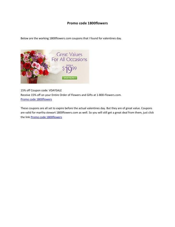 promo code 1800flowers, Ideas