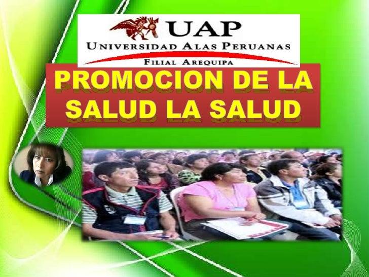 PROMOCION DE LA             SALUD (objetivo)                                       Prioridad en el                        ...